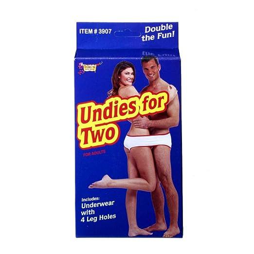 cccfb951060 Forum Novelties 3907 Undies for Two, Fun Fundie Underwear Panties for  Halloween Parties & Holidays