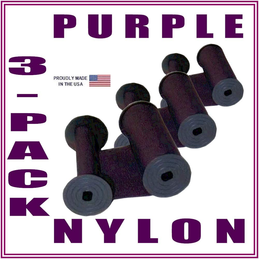 DBP 3-Pack, Rapidprint AR-1 5650 Time Stamp Ink Ribbon, Purple Nylon by DBP