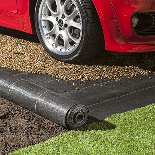 50 FREE PEGS Pro-Tec 2m x 50m Heavy Duty 100g Weed Control Membrane Ground Cover Landscape Fabric