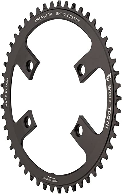 for Shimano Road 110 Asymmetric 4-bolt Cranks Black Wolf Tooth 40T Chainring
