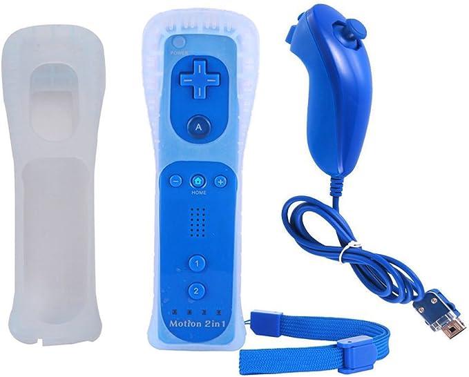 YiYunTE 2 en 1 Mando Plus con Motion Plus y Nunchunk Wii con Funda ...
