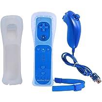 BIGFOX 2 en 1 Mando Plus con Motion Plus y Nunchunk para Nintendo Wii / Wii U (Opcional a Seis Colores) y Funda de Silicona: Amazon.es: Electrónica