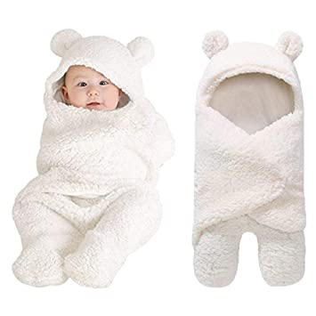 cc0be4079cf4 Amazon.com  XMWEALTHY Cute Newborn Baby Boys Girls Blankets Plush ...