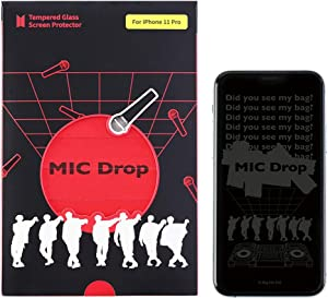 BTS MIC DROP_iPhone Tempered Glass Screen Protector (scratch-resistant, high definition) for iPhone 11 Pro(XS, X)