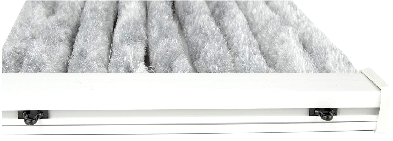 Arsvita Flausch-Vorhang, viele Variationen, Größe  140x200 140x200 140x200 cm, Farbe  hellgrau-weiß B01AWBN2FQ Vorhnge 332476