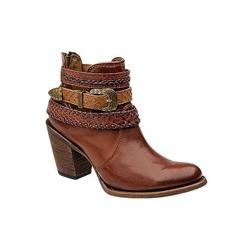 a582a4d84f Botas Vaqueras de Dama en Piel de Ternera y Pitón Cuadra: Amazon.es:  Zapatos y complementos