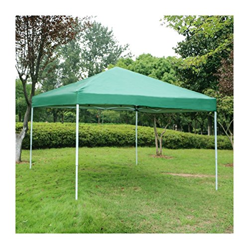 Sun Outdoor Pop Up Canopy Tent Portable Shade Instant Folding Gazebo Tent for Parties w/ Carrying Case – 10 x 10 ft (Green)