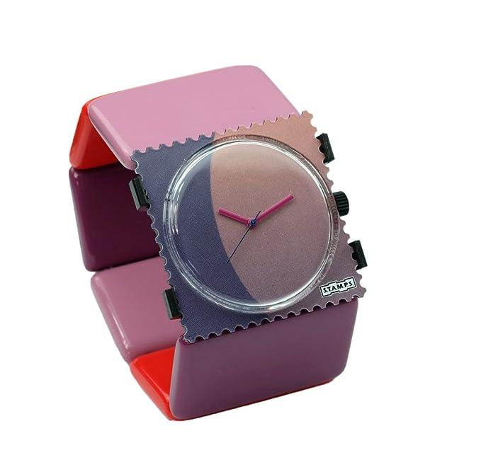 S.T.A.M.P.S. Stamps Reloj - Esfera mysterie Completo con Belta 70s Violet: Amazon.es: Relojes