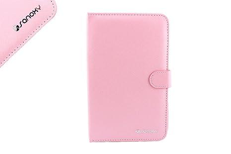 SANOXY Funda Leathertablet pie con Teclado USB para Tablet PC androide DE 9.7 Pulgadas Rosado