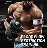 """BFR """"Blood Flow Restriction"""" Occlusion Bands - Quick release training bands, perfect for arms and legs - Build Muscle without Lifting Heavy Weights, Injury Rehab and Recovery, 2 Extra Strong and extra durable natural Cotton Canvas Bands. Fitness - Recovery - Big muscles - Rapid Growth - Gains - Pump - Strength training - by FitEthic"""