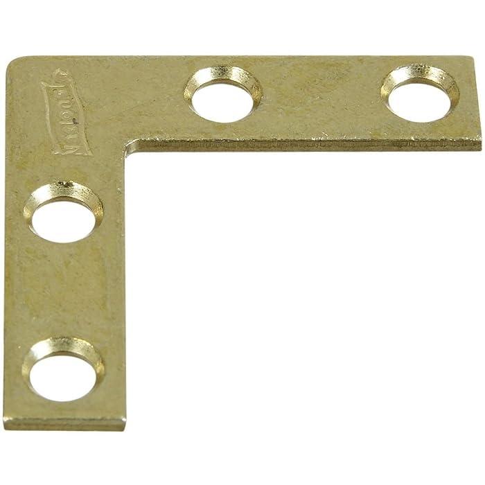 National Hardware N190-868 V117 Corner Braces in Brass, 4 pack