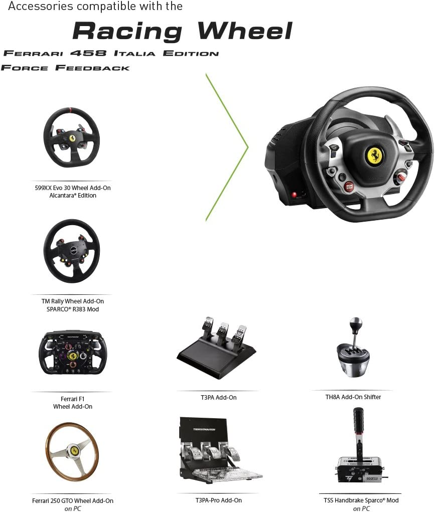 buy popular 11eb0 55340 Amazon.com  Thrustmaster TX RW Leather Edition (XBOX One PC)  Video Games