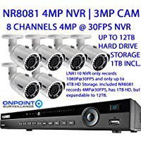 Lorex NR800 Series NR8081 4MP NVR with 6 3MP LNB3163B Bullet Cameras with Night Vision