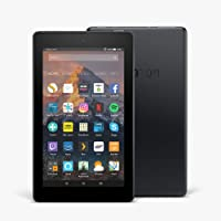 """Certified Refurbished Fire 7 Tablet with Alexa, 7"""" Display, 8 GB, Black — with Special Offers (Previous Generation - 7th)"""