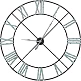Huge Extra Large Vintage Metal Skeleton Wall Clock