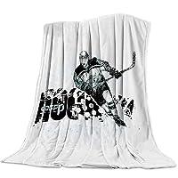 T&H XHome Nursery Bed Blankets Flannel Fleece Throw Blanket Ice Hockey Blanket for...