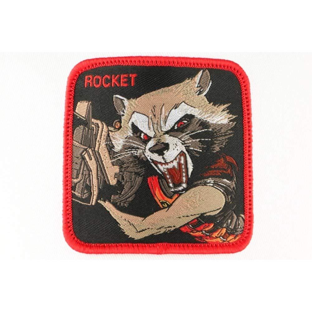 CAPSLAB Casquette Rocket Raccoon Rouge et Noire Marvel Homme