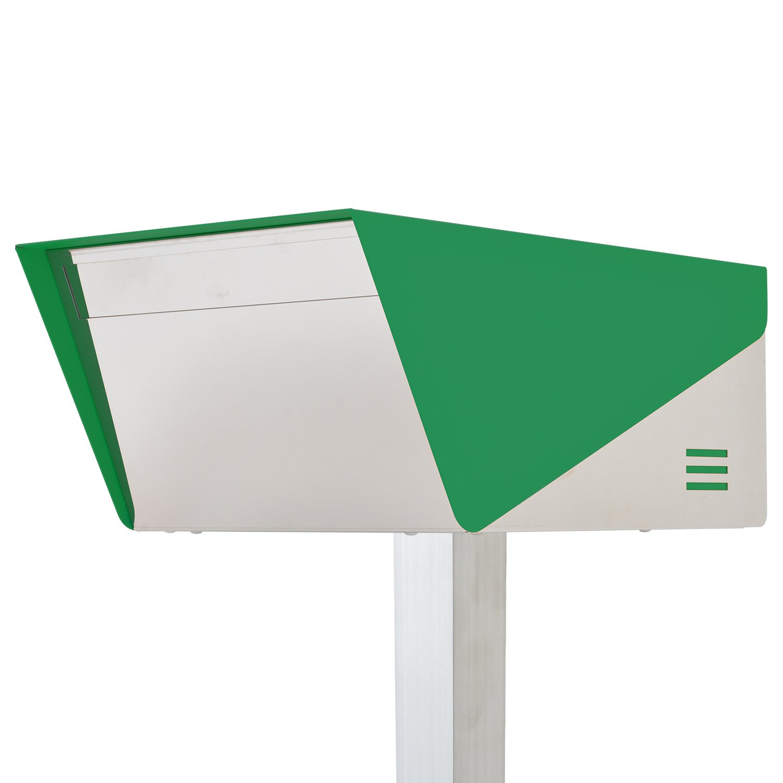 San Jose light(サンノゼライト) ディープ 郵便ポスト ポール付き スタンド型 ステンレス製 鍵付き おしゃれ 大型 アメリカンポスト 大容量 郵便受け 99.9% 防水構造 日本製 グリーン B01N7FFRV8 29160 グリーン グリーン
