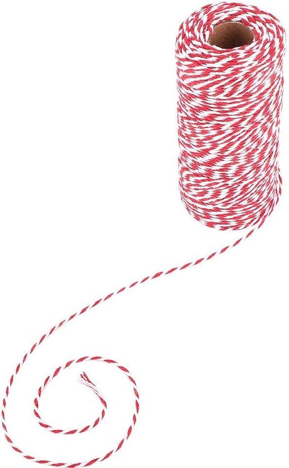 Bilder und Verzierungen Cotton Bakers Twine Basteln Geschenkverpackungen Schwarz-Weiss 100 m bunte Bindf/äden f/ür Kunstwerke
