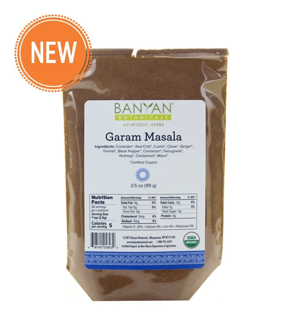 Banyan Botanicals Garam Masala - USDA Organic - Classic Blend of Aromatic Indian Spices
