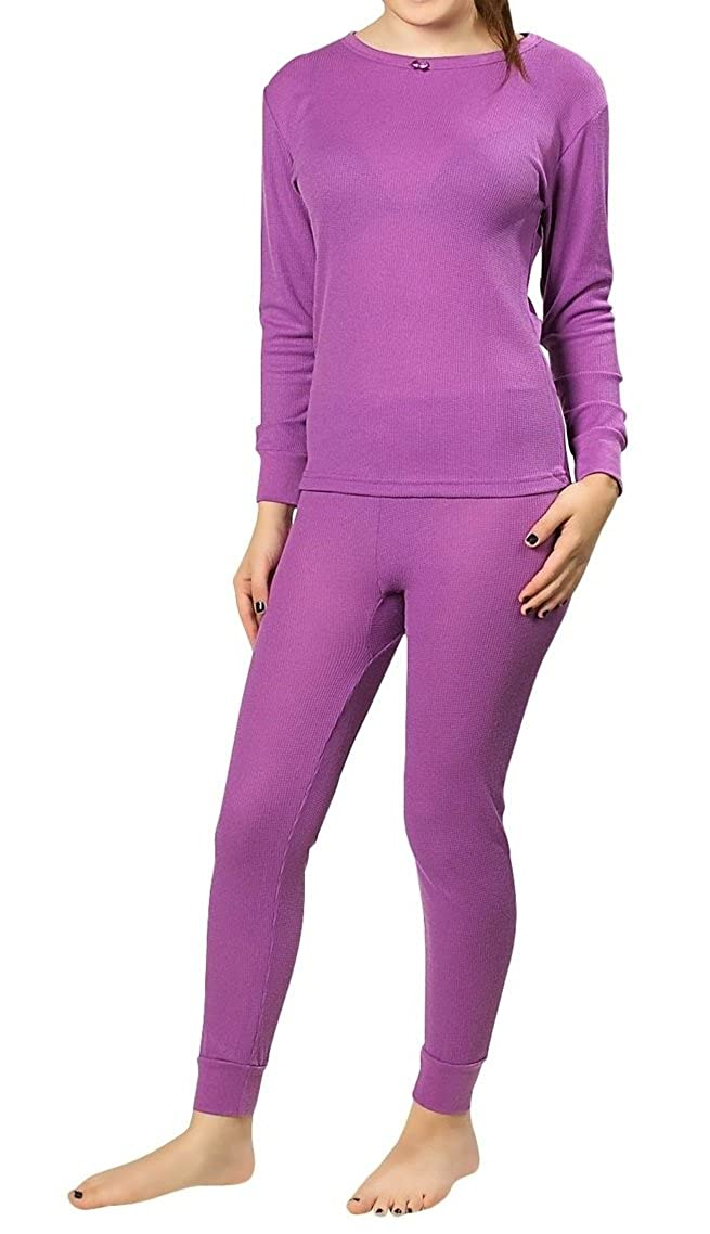 Women's 100% Cotton Thermal Underwear, 2-Piece Set