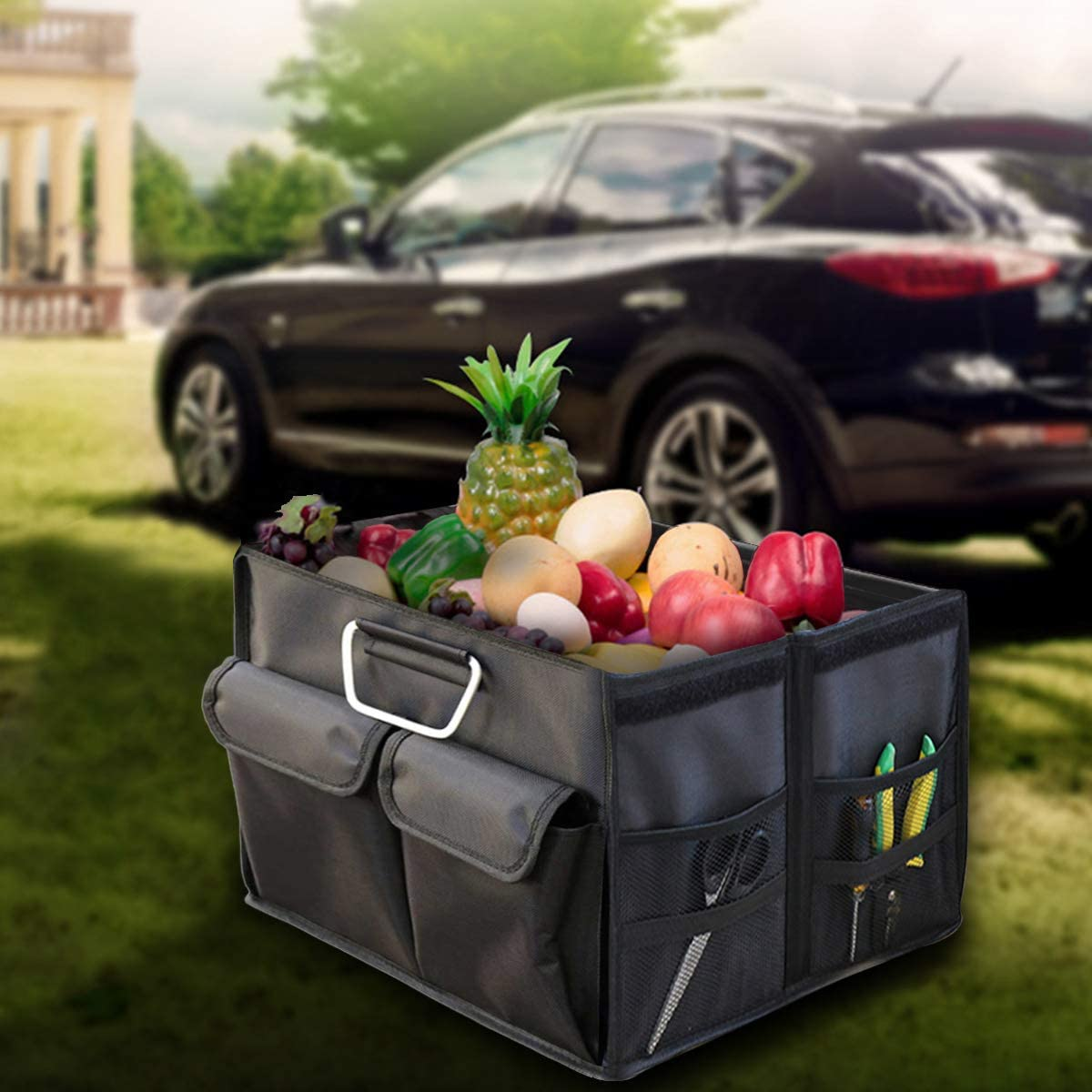 and SUV Van Large Black Blankets Closets Bedrooms Trunk Organizer and Storage Car Back Seat Organizer for Clothes SJINC Foldable Storage Bins Boxes
