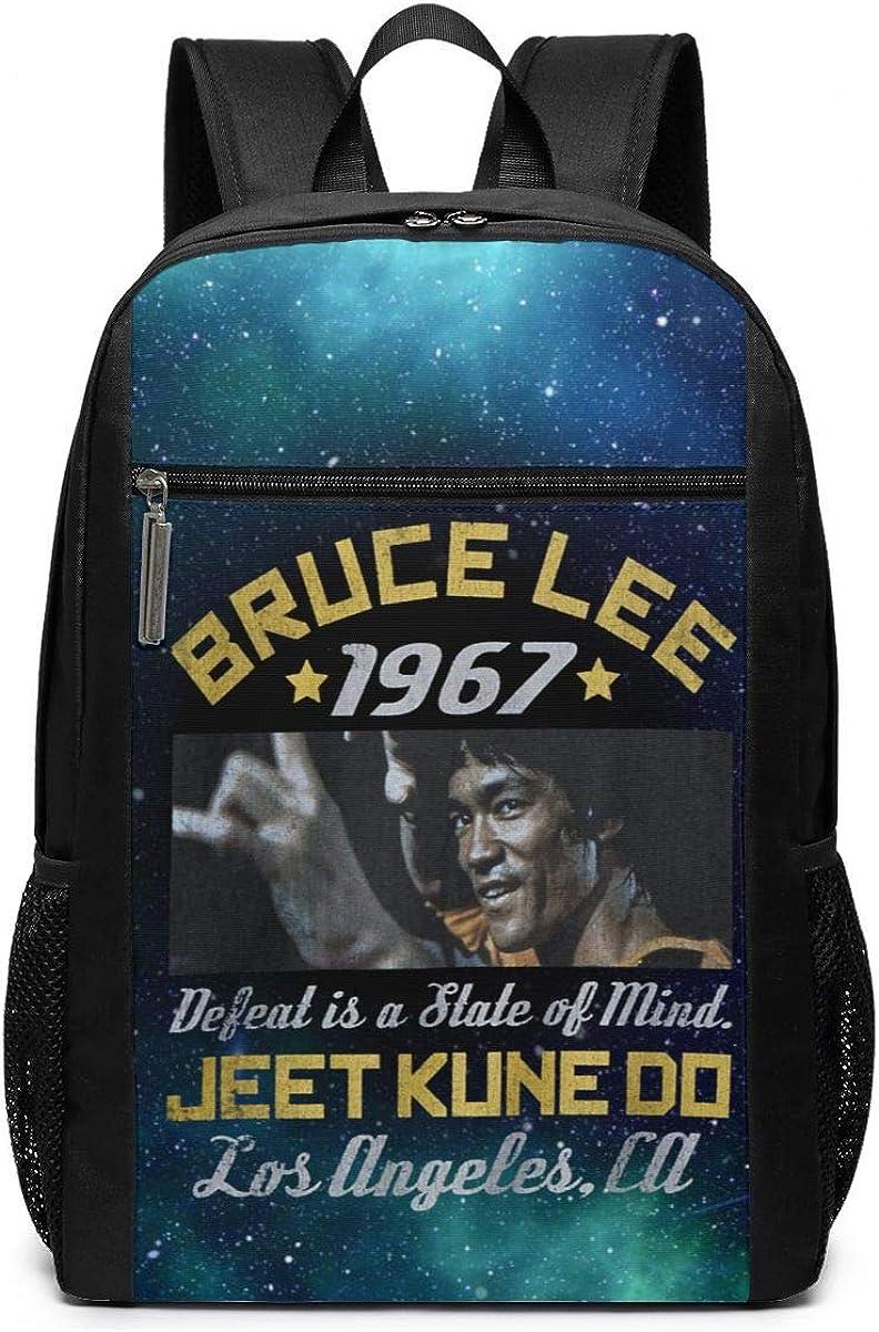 Bruce Lee Box Smirk Laptop Shoulder Backpack Business Bag College Bookbag