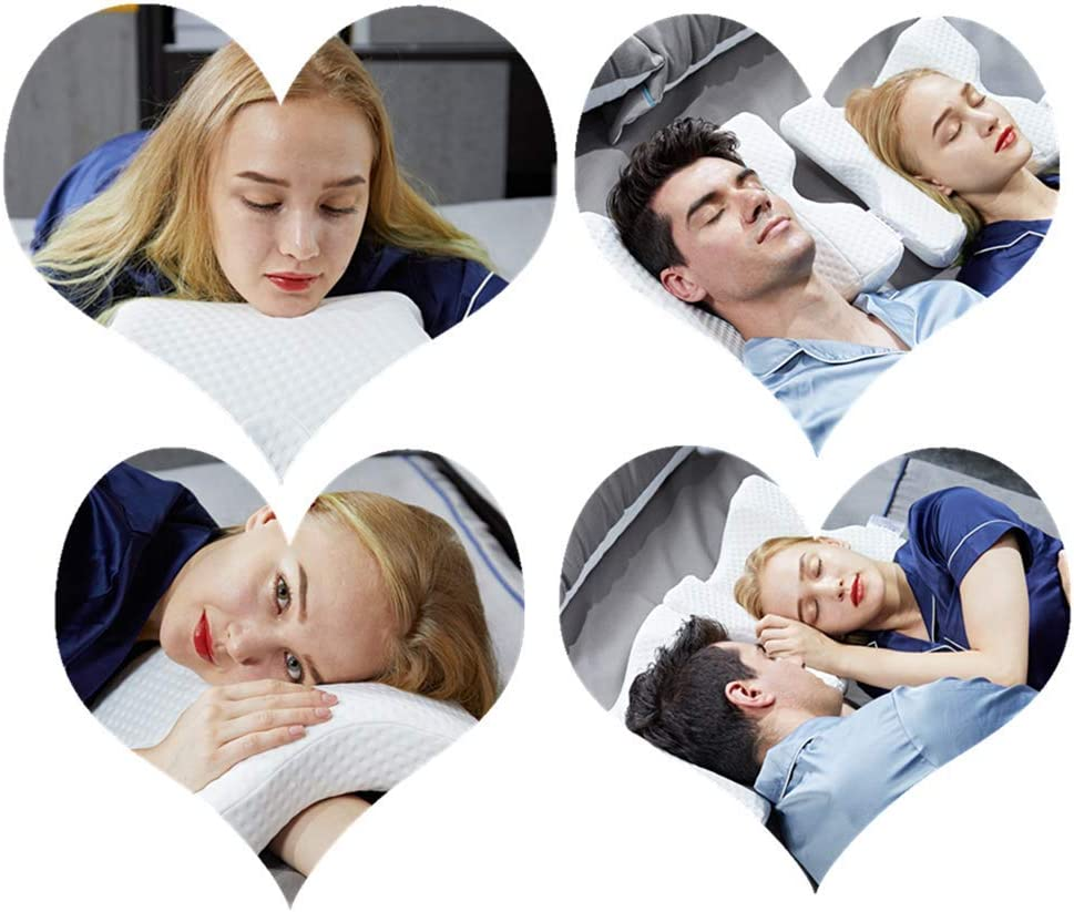 DEAYU 100/% Memory Foam Arched Pillow Anti Hand Numb Couple Cuddle Sleep Pillow