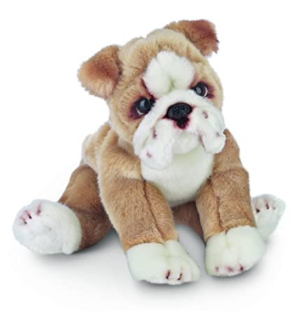 Amazon Com Bearington Tug Bulldog Plush Stuffed Animal Puppy Dog 13
