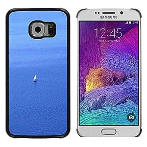 FECELL CITY // Duro Aluminio Pegatina PC Caso decorativo Funda Carcasa de Protección para Samsung Galaxy S6 EDGE SM-G925 // Sail Sailboat Sailor Water Sea Ocean Sailing