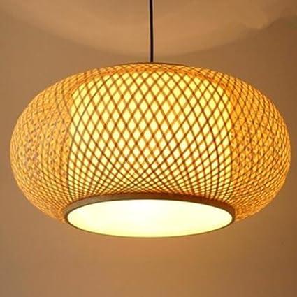 Araña Lámparas De Bambú Hechas A Mano Linterna De Pantalla ...