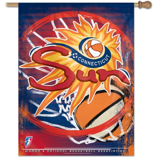 (WNBA Connecticut Suns 27-by-37-Inch Vertical Flag)