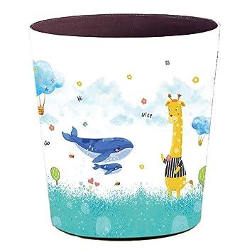 Batop Papierkorb Kinder, 10L Wasserdicht PU Leder Papierkorb Kinder ...