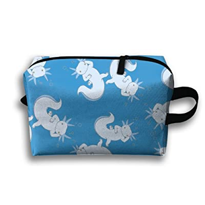 outlet ORGANIZERS PPOI Cute-Axolotl-Novelty Travel Organizers Cubes Practical Luggage Accessories Pouch Makeup Bags