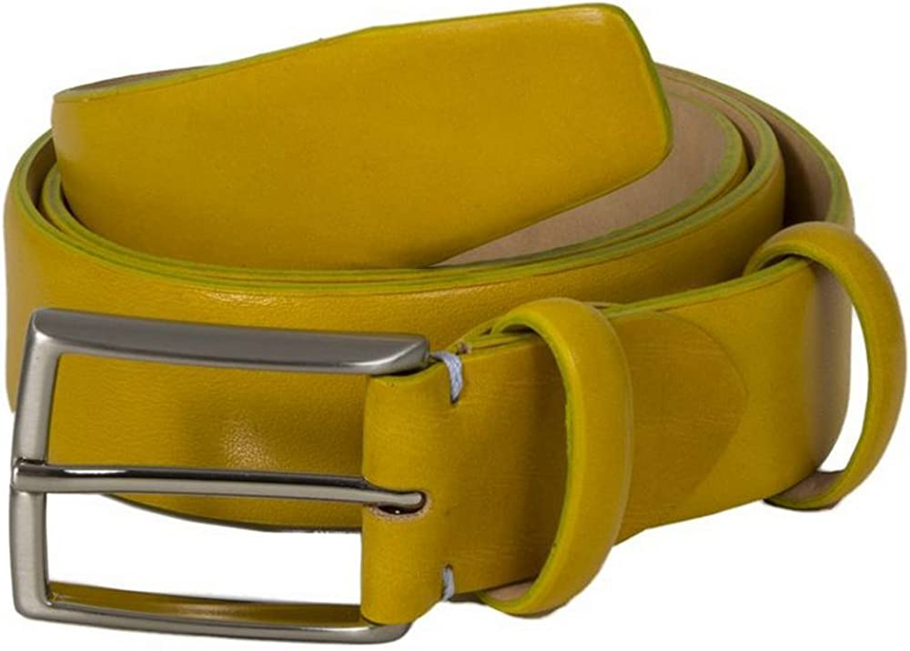 Yellow 40 Colori Mens Venezia Florentine Leather Belt