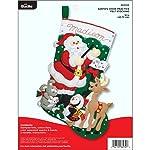 Bucilla 86930E - Kit de calcetín de fieltro, diseño de Papá Noel, 45,7 cm