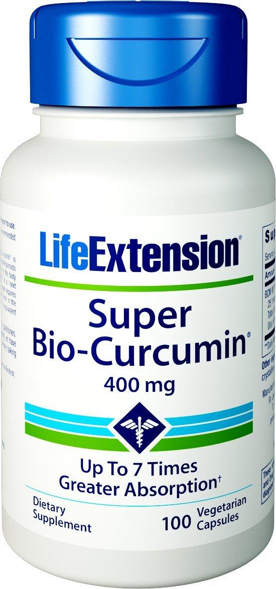 Life Extension Super Bio Curcumin Bcm-95 400 mg Capsules, 100 Count