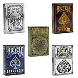 Playing Card Collector's Cache: Bicycle Archangels, Stargazer, Fire, Steampunk, and Brybelly Aces High