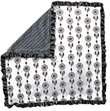 Dear Baby Gear Baby Blankets, Dreamcatcher, Grey Minky