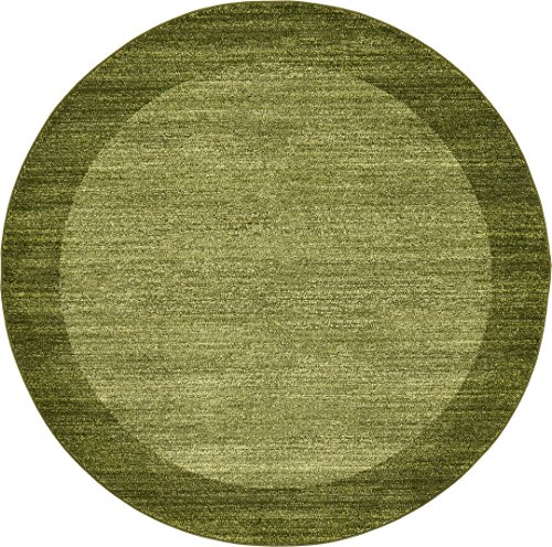 Over-dyed Modern Vintage Rugs Light Green 6' FT Round Palma Collection Area Rug - Perfect for any ()