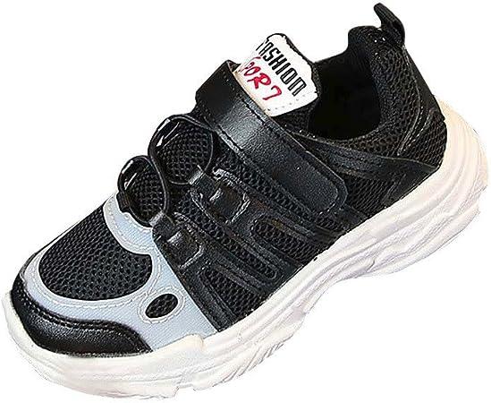 Zapatillas NIÑO Zapatillas Zapatos Niña Casual zapatos niña Tenis Zapatos Diverse niño Sport Running Zapatos Niños Niñas Camiseta Muelles Suela Zapatillas Deportivas morwind 29 Negro: Amazon.es: Bebé
