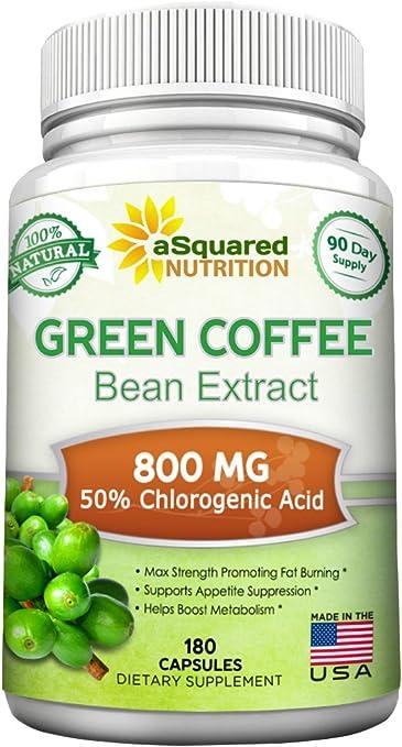 Amazon Com 100 Pure Green Coffee Bean Extract 180 Capsules