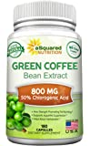 100% Pure Green Coffee Bean Extract - 180 Capsules - Max Strength Natural GCA Antioxidant Cleanse for Weight Loss, 800mg…