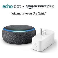 All-new Echo Dot (3rd gen) bundle with Amazon Smart Plug - Charcoal