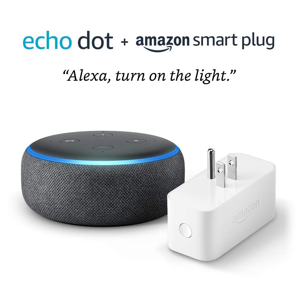 Echo Dot (3rd Gen) bundle with Amazon Smart Plug - Charcoal by Amazon (Image #3)