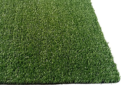 PZG Artificial Grass Rug w/Drainage Holes & Rubber Backing | 2-Tone Realistic Synthetic Grass Mat | Extra-Heavy & Soft Pet Turf | Lead-Free Fake Grass for Dogs or Outdoor Decor | Size: 8' x 5'