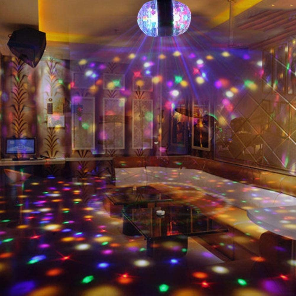 Palla da Discoteca A LED 7 Colori 6W Lampada da Discoteca Luce per Feste Effetto Luce RGB Illuminazione per Palcoscenico Illuminazione Attractive Linier Luci da Discoteca