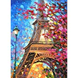5D Diamond Painting Kit, Full Drill DIY Embroidery Painting Wall Sticker for Wall Decor - Tower in Autumn (12 x 16inch)