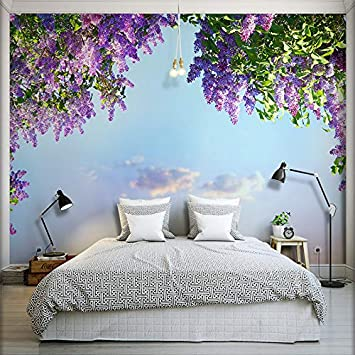 Amazon.com : 3D Camera Wallpaper Paesaggio Bellissimi Fiori ...
