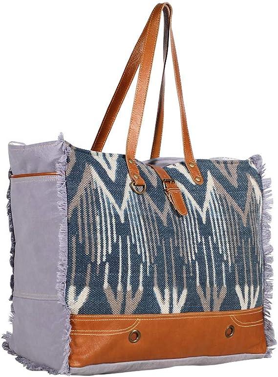 Amazon Com Myra Bags Spacious Canvas Leather Rug Weekender Bag S 1972 Bag measures 17 wide x 14 high x 4 deep. myra bags spacious canvas leather rug weekender bag s 1972